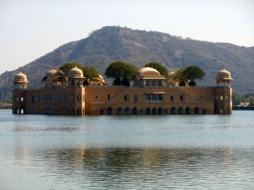 Jal Mahal Palace located in the middle of the Man Sagar Lake